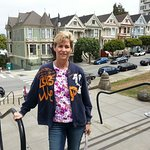 great view of the painted ladies and a lovely park