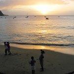 Blick von der Terrasse auf die Karibik