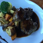 Delicious lamb rump and vegetables