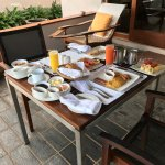 Breakfast on the terrace - and it's yummy!!