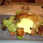 Hauptgang: Rochen auf italienischem Brotsalat