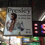 Signage outside the Presley Guesthouse