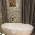 Great bath with fab pictures and gold mosaics