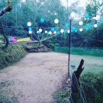The bonfire area at Camp Roxx is decked up with the all the right tools for a party in the hills