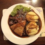 Steak and kidney with mash