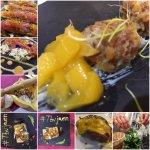 Collage del menu que sirvieron durante mi visita