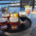 Flight of all of their beer offerings.