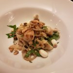 Boneless Frog Legs Salad with lotus root, stem and seeds