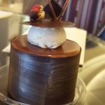 Delightful pastry with mousse and cake