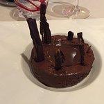 Mousse Chocolat Grand Cru Jivara, Sauce Chocolat et Vanille Bourbon, Sorbet Chocolat Noir