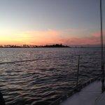 Sunset on Goat Island