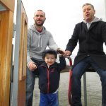 Captain Callum showing his dad and Mark how its done