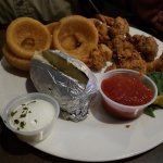 Fried platter with Huge onion rings