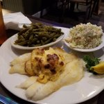 Broiled grouper plate