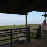 Spacious lookout with views of Catalina Bay--good picnic spot