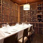 Our small wine cellar. Perfect for a small, intimate gathering!