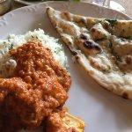 lunch with garlic nan