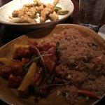 orange chicken and fried rice