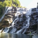 So many gorgeous waterfalls, gorges and trails to explore all in walking distance from The State