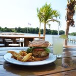 Outdoor seating on the water