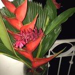 Restaurant flower decor