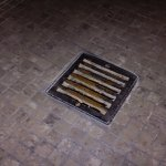 Rusty grate in the bathroom.