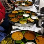 great south Indian thali (there are also breads and rice included)