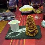 Mini rocher des Pyrénées et sa crème anglaise