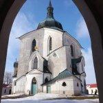 The Pilgrimage Church of St. John of Nepomuk at Zelena Hora Foto
