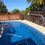 private fenced in pool