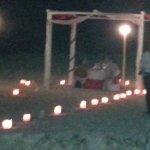 Möglichkeit eines romantischen Candlelight-Dinners