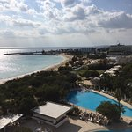 view of Ayia Napa from 4th floor rear room