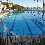 The private Coral Casino Beach Club pool