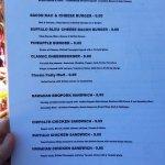 food menu
