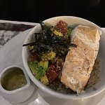 Great food, loved the salmon bowl. The lychee sangria was a bit sweet for our taste.