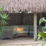 Quiet tiki hut to read a book