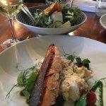 Salmon with a potato salad