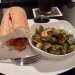 Oyster po'boy with brussel sprouts