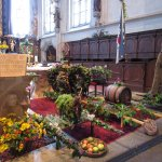 Sanctuary of St. Maurice in Spitz decorated with local agriculture products