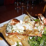 This half lobster in Hobart at Mures cost $120, had no taste, salad not good
