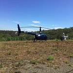 How about arranging a helicopter ride from our property