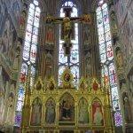 Decorated altar area.