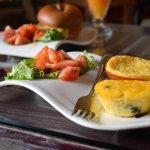 Breakfast quiches, and Desayuno Especial