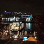 View from table towards Darling Harbour