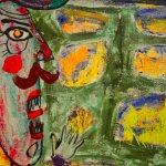 Orator at the Wall, Jean Dubuffet, 1945