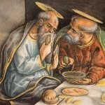 Whimsical scene of the Last Supper, Carlo Crivelli, 1482