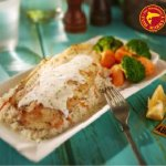 Good old dory with home-made garlic herb sauce, hot veggies and rice. Only MVR 105!