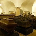 Im Dom unten die Hohenzollerngruft mit den Sarkophagen der Kurfürsten