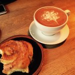 Delicious freshly made cinnamon buns, amazing coffee and friendly service. Great place to go in