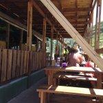 Part of the veranda seating area
